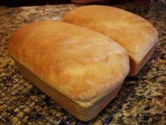 no fail white bread. still my favorite bread recipe! makes 4 loaves