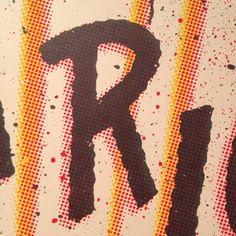 Letter of the day! #r #typography #glyphosaurus #twoarmsinc #nationalposterretrospecticus  (Taken with instagram)