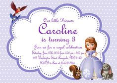 Sofia the first birthday party invitation kids birthday princess sofia the first birthday party invitation printable file stopboris Image collections