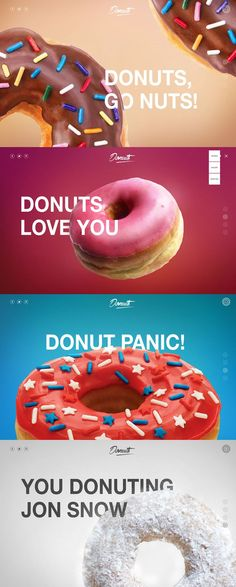 Donuts. I feaking love donuts. I especially appreciate the gradients and use of typography and layering. #iwantadonute