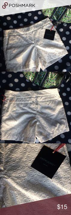 Cynthia Rowley white shorts NWT beautiful white shorts ▫️ Cynthia Rowley Shorts Skorts