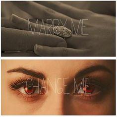 """Edward Cullen: """"Marry me."""" Bella Swan: """"Change me."""" - Eclipse"""