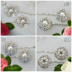 Hey, I found this really awesome Etsy listing at https://www.etsy.com/listing/482093043/choose-2-bobby-pins-bridal-hair-clip