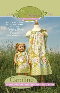 Pattern for pillow case dresses.
