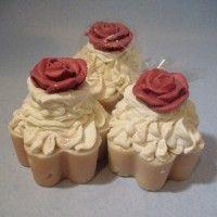 Tea Rose Cupcake Soap