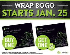 Here It Is! BOGO is BACK for the next 48 Hours Only! There will be no extensions! Buy one box of Wraps and get one FREE! If you were interested in trying them NOW is the time to take advantage of this incredible offer  Please pm me or call/text 732-682-6108 and I will give you my website. Have a Fabulous Day