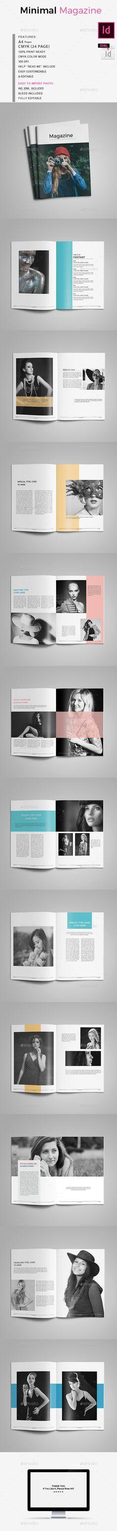 Minimal Magazine Tamplate - Magazines Print Templates