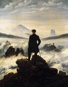 Die bekannteste Rückenfigur der Kunstgeschichte: Caspar David Friedrich Der Wanderer über dem Nebelmeer, 1818