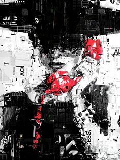 Destruir para construir: Los Collage de dos metros de Derek Gores
