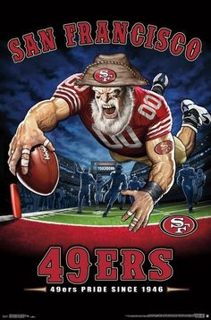 San Francisco Pride Since NFL Theme Art Poster – Liquid Blue/Trends Int'l. San Francisco Pride Since NFL Theme Art Poster – Liquid Blue/Trends Int'l. Nfl 49ers, 49ers Fans, Baby Led Weaning, Football Team Logos, Football Art, Football Posters, Football Signs, Bills Football, Sports Posters
