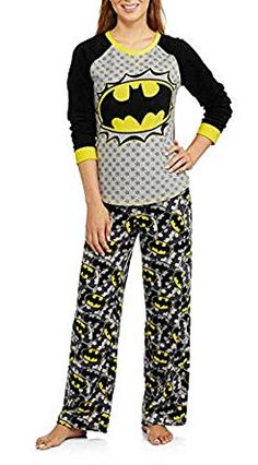 Amazon.com: DC Batgirl Batman 2 Piece Women's Fleece Pajama Set: Clothing
