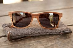wooden sunglasses. rad.