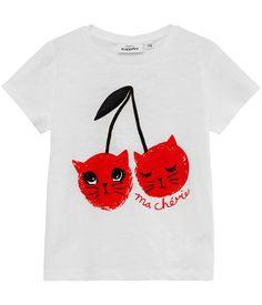 T-shirt med front print.