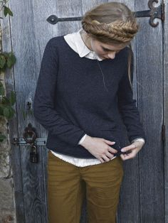 PLAIN TALKIN KNIT | knitwear | White Stuff | like the navy with the mustard