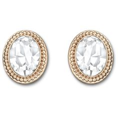 With their simple, feminine design, Swarovski's Arrive pierced earrings are the ideal jewelry piece for everyday wear. Each one presents an oval-shaped crystal surrounded by an embellished frame in gold-plated metal. The earrings come as a pair. Rose Gold Earrings, Women's Earrings, Pierced Earrings, Swarovski Jewelry, Swarovski Crystals, Jewelry Accessories, Fashion Accessories, Palladium, Or Rose