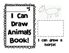 I Can Draw Farm Animals Emergent Reader