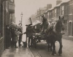 https://flic.kr/p/9M83MS   Evacuation   People either loading or unloading a cart as part of the evacuation of houses that occured during the Great Timber Yard Fire in 1922. Thanks to the efforts of firefighters, many belongings were able to be evacuated as they slowed the spread of the fire towards neighbouring tennements on the Central Estate.   Photograph Collection No : 370  Images from Hartlepool Cultural Services that are part of The Commons on Flickr are labeled 'no known copyright…