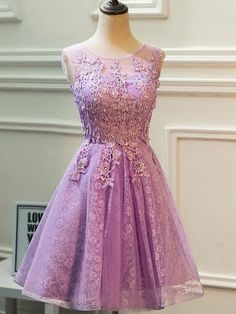 best=Lace Tulle Scoop Neck A line Knee length Beading Prom Dresses , Looking for that Perfect Prom Dress?Amazing styles & offers available! Modest Homecoming Dresses, Lace Homecoming Dresses, Prom Dresses For Sale, Short Bridesmaid Dresses, Short Dresses, Formal Dresses, Bridesmaids, Wedding Dresses, Vestidos Plus Size