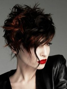 Short Messy Hairstyles, love it.