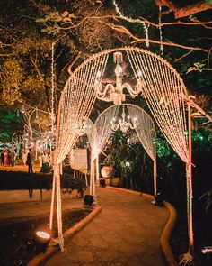 Wedding entrance walkway is the crucial spot where many guests passing by. Make them enjoy by creating magical wedding walkway decoration. Lace Wedding Decorations, Desi Wedding Decor, Luxury Wedding Decor, Prom Decor, Wedding Ideas, Table Wedding, Budget Wedding, Wedding Themes, Wedding Styles