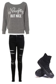 """Untitled #6"" by beautygirlblaze on Polyvore featuring Miss Selfridge and Converse"