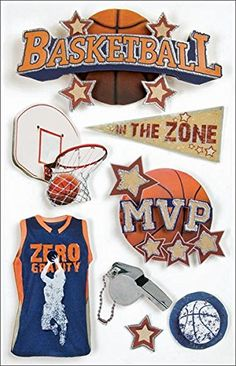 Paper House Sport 3 D Stickers Basketball Scrapbook Stickers, Scrapbook Supplies, Scrapbook Layouts, Scrapbooking, Paper Houses, Sticker Shop, Comfy Hoodies, Arts And Crafts Supplies, Sticker Paper