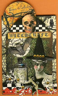 A Nostalgic Halloween: Tombstone ATC - Witchcraft