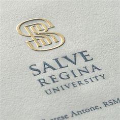 Engraving letterhead for Salve Regina University Types Of Lettering, Hand Lettering, Business Stationary, Logo Branding, Logos, Stationery Printing, Types Of Printing, Letterhead, Corporate Identity