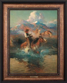 TROUBLE ON THE PONY EXPRESS (FRAMED)
