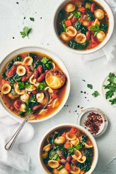Veggie Bean Soup with Roasted Lemon | Evergreen Kitchen | Vegan