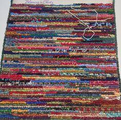 Locker Hooking Rag Rug  www.bloominginchintz.blogspot.com