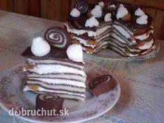 Fotorecept: Palacinková torta Fantázia - Takáto tortička vhodna pre tých čo nemajú radi maslové plnky.
