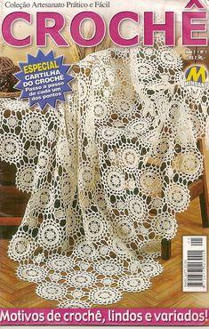 Crochet Magazine, Crochet Tablecloth, Crochet Books, Crochet Granny, Table Covers, Arts And Crafts, Album, Lace, Archive