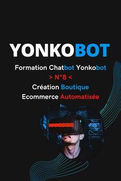 Avoir une boutique eCommerce automatisée en quelques clics ? 🤖 ..  Dans cette vidéo nous verrons comment avec Yonkobot vous pouvez créer une boutique eCommerce et en plus, l'automatiser ☑️ ..  Plus simple que WordPress ou Shopify, construisez une boutique facilement et efficacement ☑️ ..  Intégrez cette boutique à l'automatisation dans Messenger ou ailleurs et boostez ventes..  ❌ Si vous avez déjà une boutique eCommerce, il est possible de la fusionner directement dans Messenger Bot ❌  Formulaires Web, Growth Hacking, Facebook, Conversation, Hacks, Engagement, Acquisition, Applications, Questionnaires