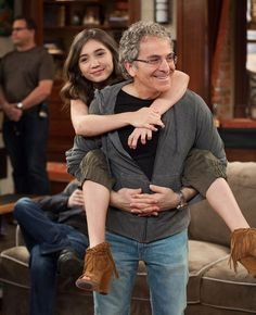 Michael Jacob (Creator of Boy  Girl) with Rowan Blanchard How adorable is this!