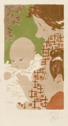 Pierre BONNARD Scène de famille, 1893 Lithographie en couleurs