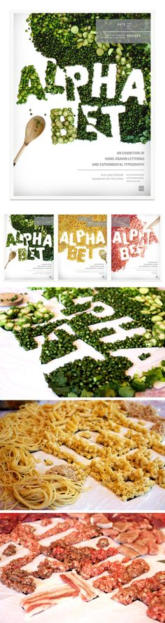 ALPHABET An Exhibition of Hand Drawn Lettering and Experimental Typography - poster series for an AIGA (American Institute of Graphic Artists) event.