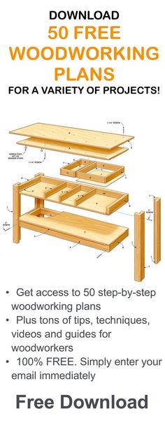 Get 50 Woodworking Plans & a 440-Page Guide Book Absolutely FREE!...