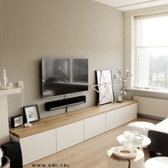 Best Photographs My TV cabinet IKEA BESTA Hack with oak plank Emi. - New Ideas Popular Investing in a well-designed sofa is a big choice and not merely one to create lightly. Ikea Hack Besta, Ikea Kallax Series, Hacks Ikea, Diy Hacks, Tv Cabinet Ikea, Tv Cupboard, Ikea Tv Stand, Tv Stand Hack, Long Tv Stand