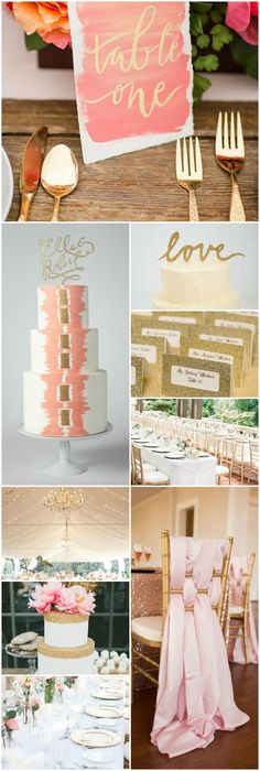 Luxury Beautiful Wedding Board of the Summer! Coral, Gold and White Wedding Style Board http://cityofcreativedreams.blogspot.com/2015/08/luxury-beautiful-wedding-board-of-summer.html