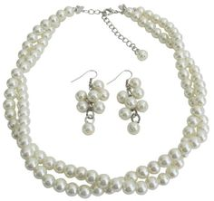 Twisted perla collar nupcial marfil perla por fashionjewelryforeve Necklace Sizes, Lariat Necklace, Pearl Bracelet, Necklace Lengths, Pearl Jewelry, Bridal Jewelry, Grape Earrings, Pearl Color, Ivory Pearl