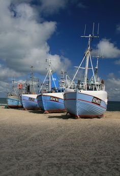 Torupstrand, Jutland, Denmark. Thorupstrand is Northern Europe's largest coastal landing - and the last of its kind in Denmark.