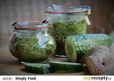 Okurková marmeláda se zázvorem recept - TopRecepty.cz Simply Recipes, Healthy Drinks, Pickles, Cucumber, Detox, Diy And Crafts, Mason Jars, Fiber, Food And Drink