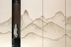 Feature Wall Design, Chinese Interior, Background Pictures, Wall Treatments, Chinese Art, Sofa Design, Textures Patterns, Sculpture Art, Sculptures