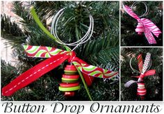 Under The Table and Dreaming: Button Drop Ornaments featuring Melissa from Serafina and Stella {Handmade Ornament No.22}