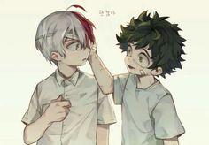 Shouto, Izuku, young, childhood, sad, crying, text, bandages; My Hero Academia