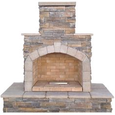 Cal Flame 78-inch Brown Natural Stone Propane Gas Outdoor Fireplace (Stone Finish), Outdoor Décor