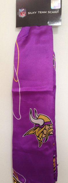 "MINNESOTA VIKINGS Logo New 34"" x 34"" Women's Silky Team Scarf #NFL #MinnesotaVikings"