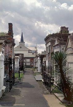 Photo Credit: Richard Sexton. View of Saint Louis Cemetery No.1 #StLouisCemetery, #NewOrleans