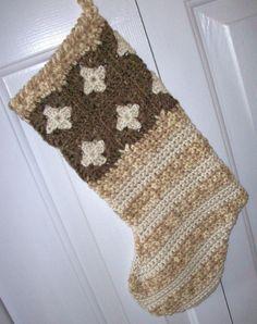 granny square stocking